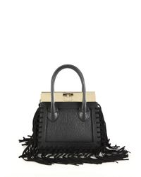 Dee Ocleppo | Black Roma Mini Convertible Fringed Leather & Suede Tote | Lyst