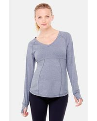 Ingrid & Isabel | Blue Long Sleeve Active Maternity Top | Lyst