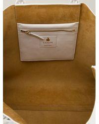 Lanvin - White Open-Top Leather Shopper - Lyst