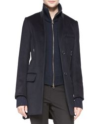 Veronica Beard - Blue Uptown-Dickey Wool Car Coat - Lyst