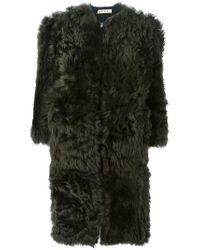 Marni | Gray Zipped Up Coat | Lyst