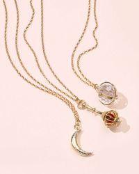 Monica Rich Kosann | Metallic Extra Large 18k Gold Carpe Diem Pendant Necklace | Lyst