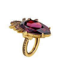 Oscar de la Renta | Metallic Bold Pear Stone Ring | Lyst
