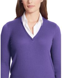 Lauren by Ralph Lauren - Purple Plus Layered Sweater - Lyst