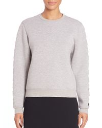 Opening Ceremony - Gray Cutout Sweatshirt - Lyst