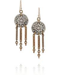 Lulu Frost - Metallic Goldtone Silvertone and Crystal Earrings - Lyst