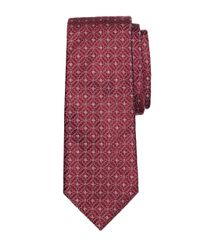 Brooks Brothers | Red Satin Medallion Tie for Men | Lyst