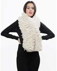 Wool And The Gang | White Plush Perry Scarf | Lyst