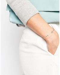 ASOS - Metallic Eye Open Cuff Bracelet - Lyst
