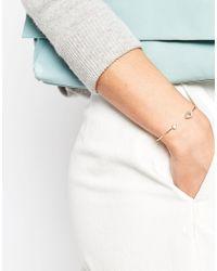 ASOS | Metallic Eye Open Cuff Bracelet | Lyst