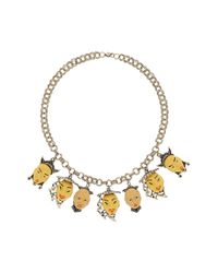 TOPSHOP - Metallic Freedom Found Collectionhead Charm Necklace - Lyst