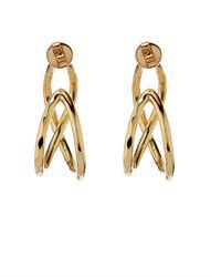 Robert Lee Morris - Metallic Twist Gold-Plated Hoop Earrings - Lyst