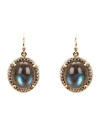 Irene Neuwirth - Blue Oval Lapis Labradorite And Diamond Earrings - Lyst