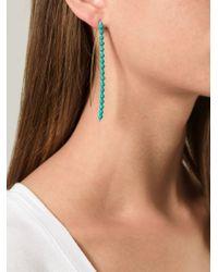 Aurelie Bidermann - Blue 'Sioux' Earrings - Lyst