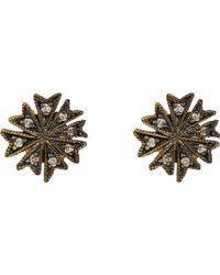 Cathy Waterman - Brown coral Flower Stud Earrings - Lyst