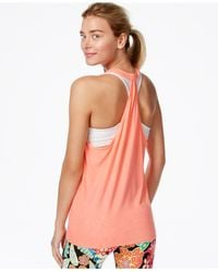 Trina Turk | Pink Recreation Jersey Laser-cut Tank Top | Lyst