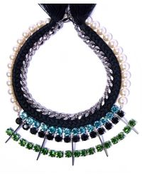 Joomi Lim | Multicolor Swarovski Crystal And Pearl Digital Tribe Necklace | Lyst