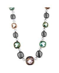 Jones New York - Multicolor Twotone Multistone Collar Necklace - Lyst