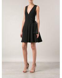 Thakoon - Black Side Tie Flared Dress - Lyst