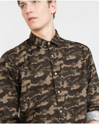 Zara | Green Printed Shirt for Men | Lyst