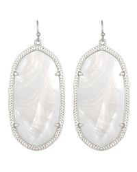 Kendra Scott | White Danielle Earrings, Mother-Of-Pearl/Silver | Lyst