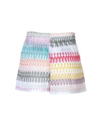 Missoni - Multicolored Knit Shorts - Lyst