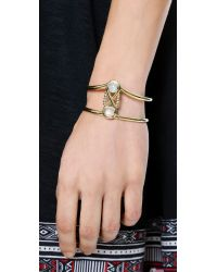Pamela Love - Metallic Infinite Cuff Bracelet - Moonstone/brass - Lyst