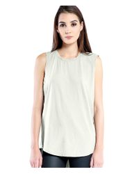 Michael Stars | White Muscle Tank Hi Low | Lyst