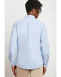Forever 21 | Blue Classic School Uniform Shirt You've Been Added To The Waitlist for Men | Lyst