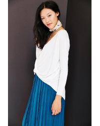 Silence + Noise - White Wonderland Surplice Top - Lyst