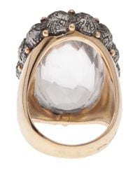 Federica Rettore - Gray Cabochon Oval Cocktail Ring - Lyst