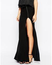 Millie Mackintosh - Black Maxi Skirt With Thigh Split - Lyst