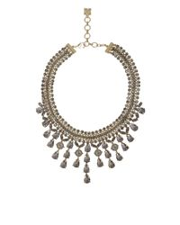 BCBGMAXAZRIA - Gray Corded Gemstone Necklace - Lyst