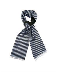 Haider Ackermann | Blue Striped Wool And Silk-Blend Scarf for Men | Lyst