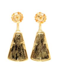 Kimberly Mcdonald | Green 18kt Yellow Apache Gold And Diamond Earrings | Lyst