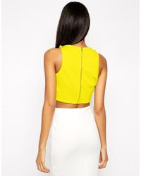 ASOS - Black Crop Top In Premium Fabric With Square Neck - Lyst
