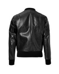 Neil Barrett - Leather Bomber Jacket - Black for Men - Lyst