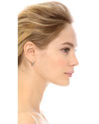 Marc By Marc Jacobs | Metallic Daisy Window Mini Hoop Earrings - Crystal/Oro | Lyst