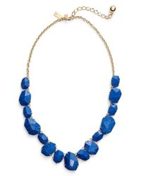 Kate Spade | Blue 'quarry Gems' Frontal Necklace | Lyst