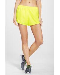 Nike - Yellow 'modern Tempo' Dri-fit Shorts - Lyst