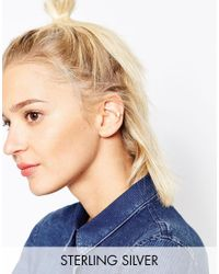 ASOS - Metallic Gold Plated Sterling Silver Mini Triangle Ear Cuff - Lyst