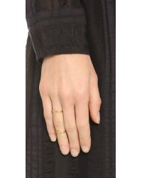 Gorjana - Metallic Carla Midi Connector Ring - Gold - Lyst