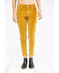 BDG - Orange Corduroy Slim-fit Pant - Lyst