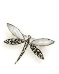 Lord & Taylor | Metallic Sterling Silver And Marcasite Dragonfly Pin | Lyst