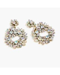 J.Crew - Natural Crystal Wreath Earrings - Lyst