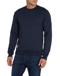 Farah | Blue Beauford Crew Neck Sweatshirt for Men | Lyst