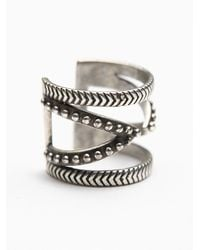 Free People - Metallic Casba Cutout Ring - Lyst