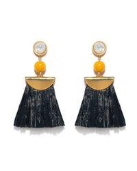 Lizzie Fortunato - Metallic Hula Raffia Earrings - Lyst