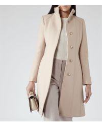 Reiss - Natural Forest Stand Collar Coat - Lyst