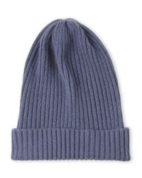 Portolano | Blue Knit Cashmere Skully for Men | Lyst
